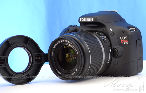 Attaching Raynox DCR-250 to Canon T2i © Copyright Cameratips.com