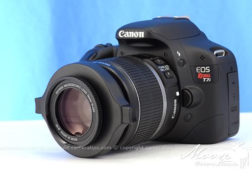 Canon T2i with Raynox DCR-250 - © Copyright Cameratips.com