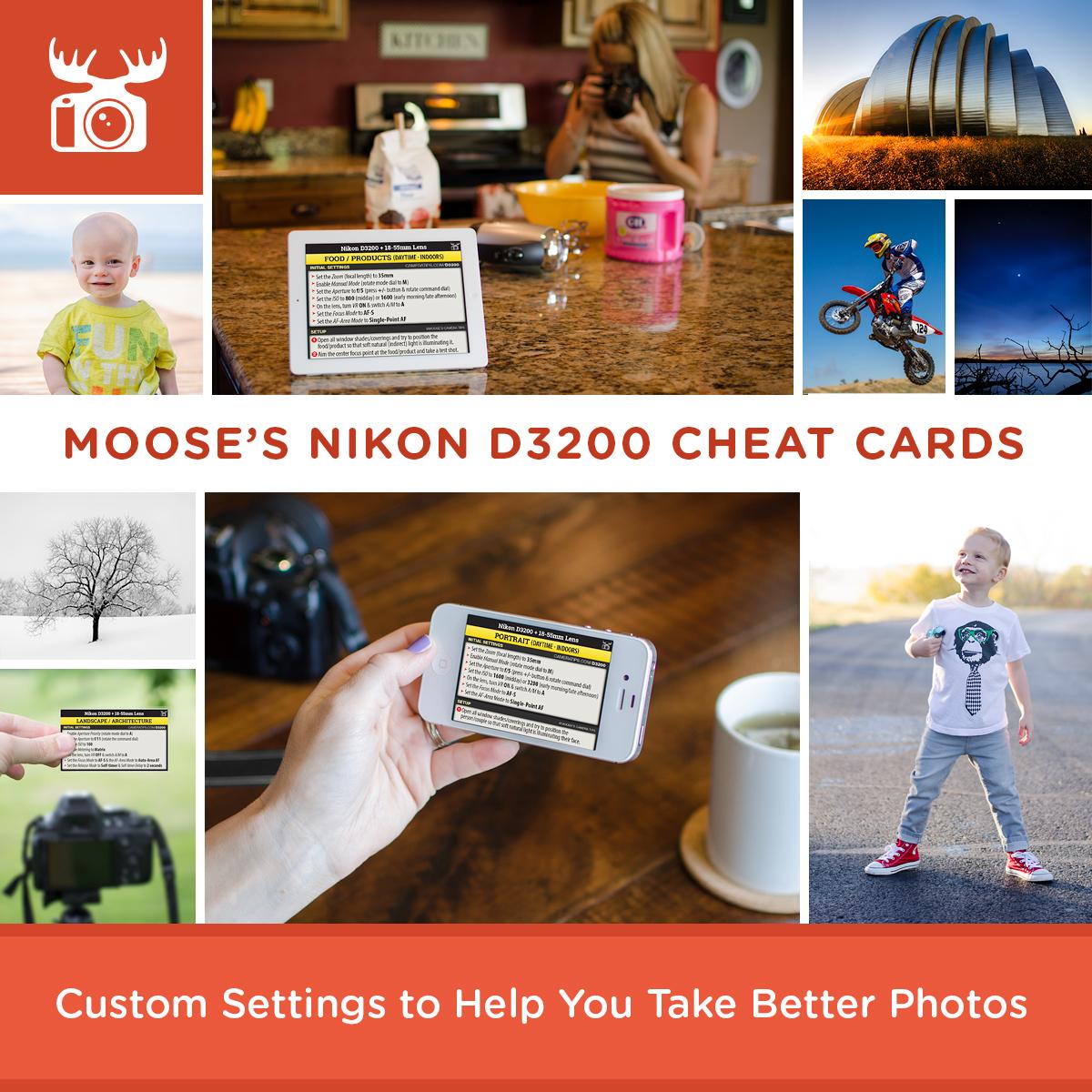 Nikon D5500 Vs D7200 >> Nikon D3200 Cheat Sheet | Best Settings for the Nikon D3200